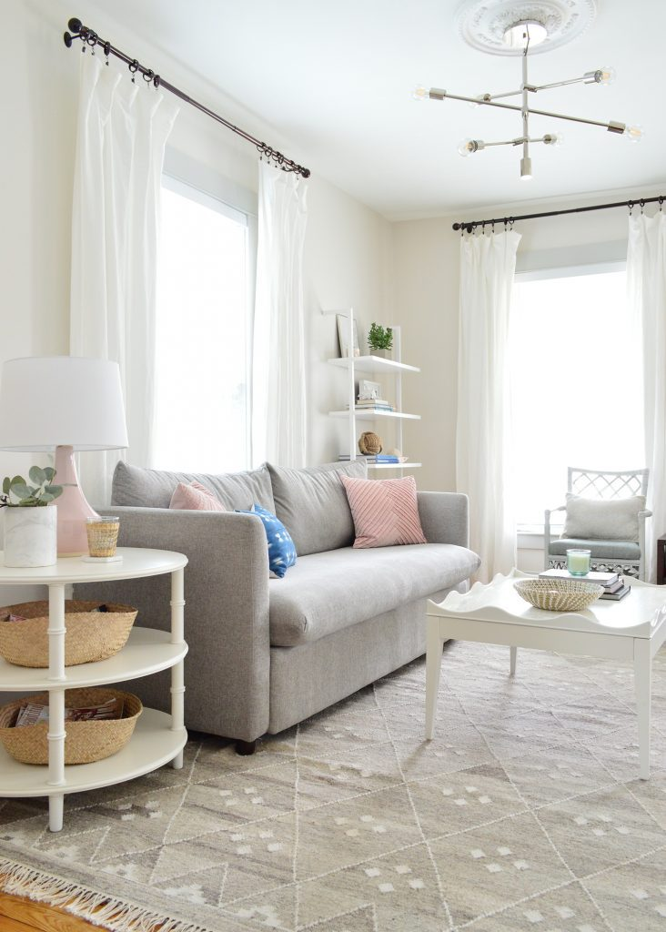 MAKING A LIGHT & AIRY LIVING ROOM (THAT'S STILL LIVABLE!)
