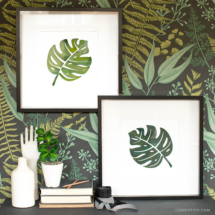 Painted Monstera Leaf Artwork