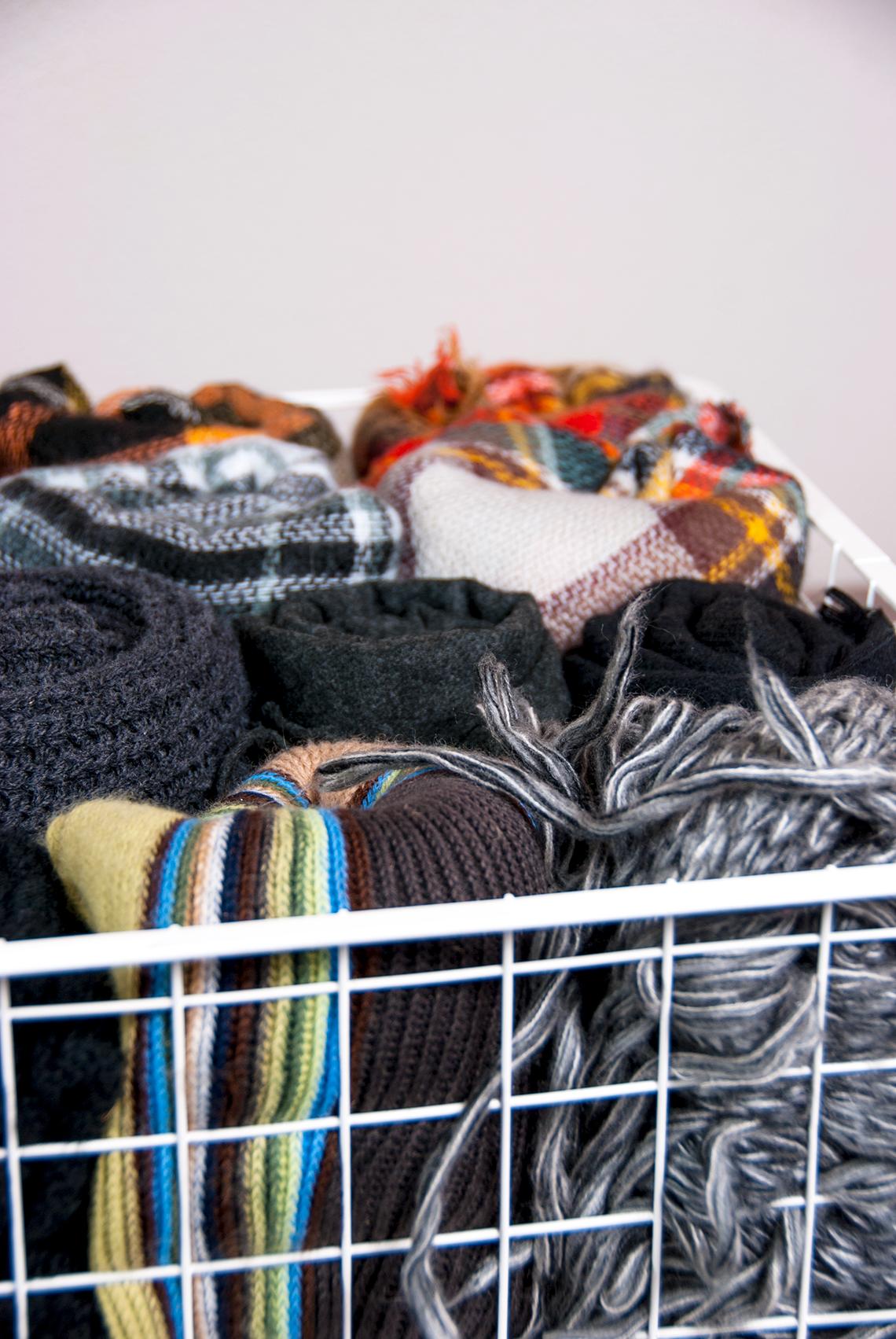 Организация шарфов по методу Конмари