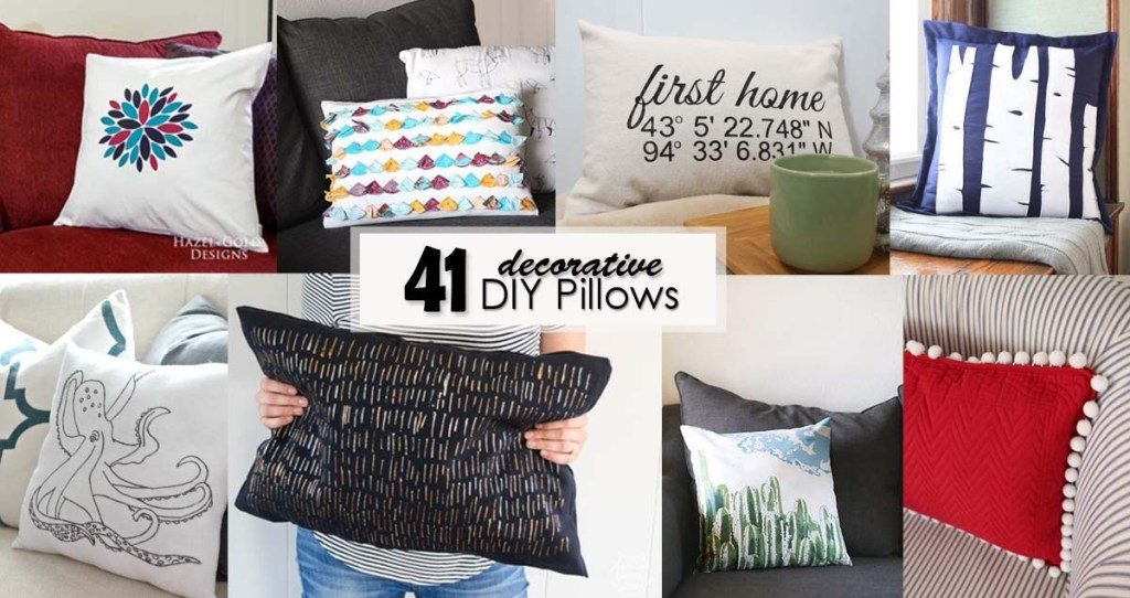 41 Decorative DIY Pillows