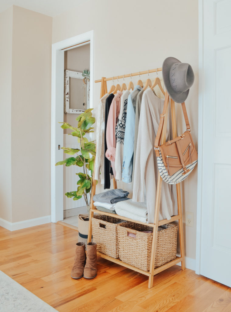 An Easy Storage Solution for a Small Closet