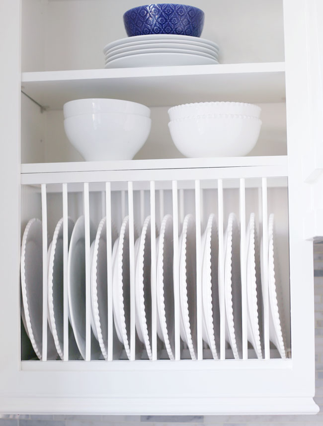 Kitchen Organization - Plate Rack Ideas