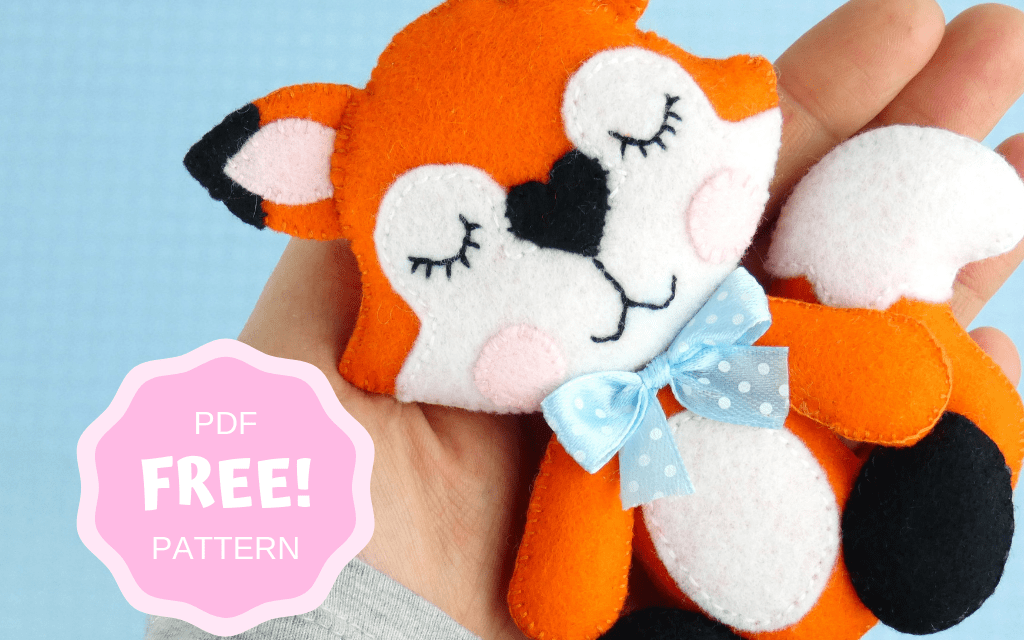 HOW TO MAKE FELT FOX ORNAMENT (FREE PATTERN)