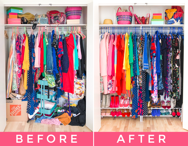 AN AFFORDABLE SMALL CLOSET MAKEOVER