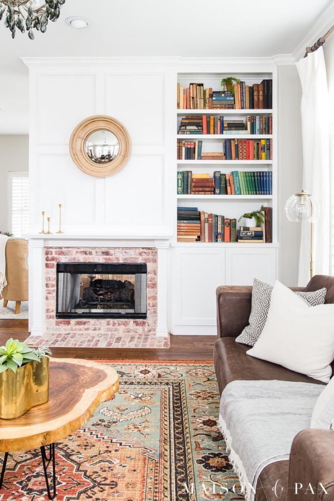 Eclectic Living Room with Colorful, Neutral, and Vintage Elements