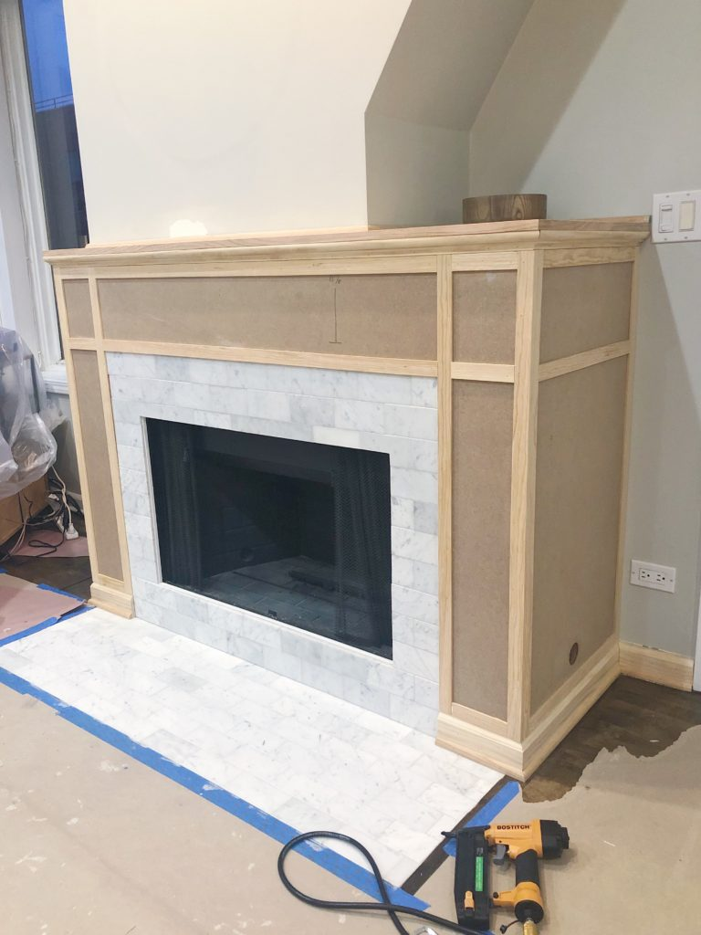 Building a Fireplace Mantle and Surround