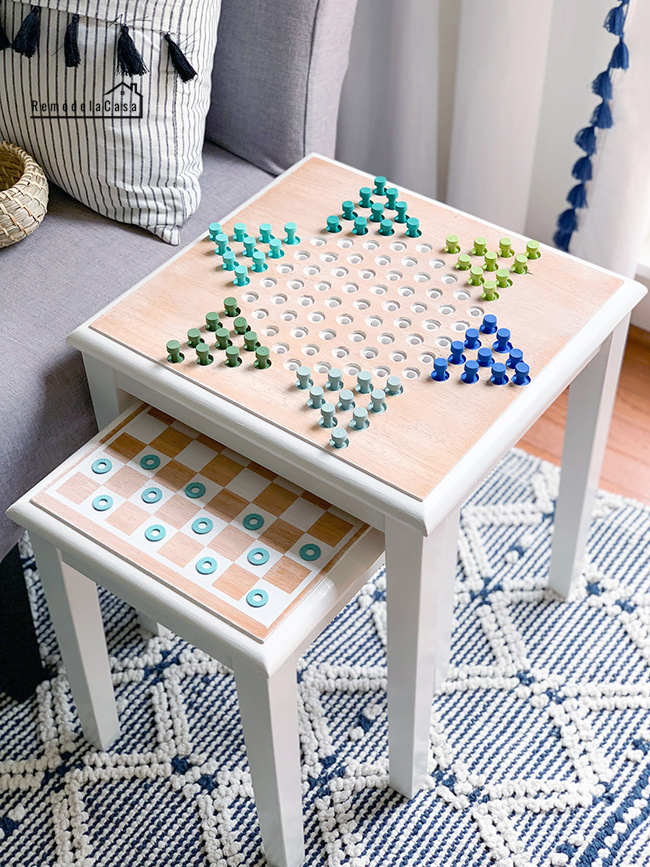 DIY - Chinese Checkers Nesting Table