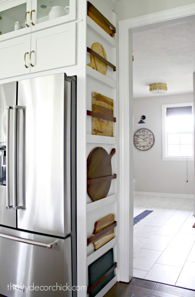 ADDING FORM AND FUNCTION TO THE SIDE OF A REFRIGERATOR CABINET