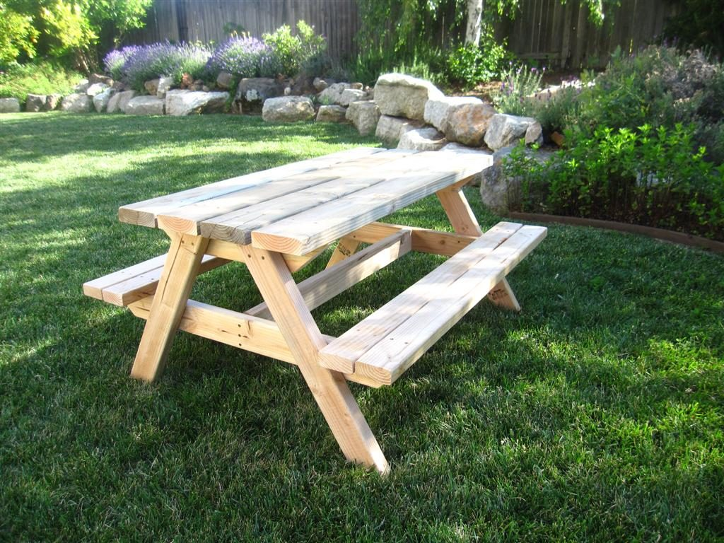 Build a Bigger Kids Picnic Table Plans