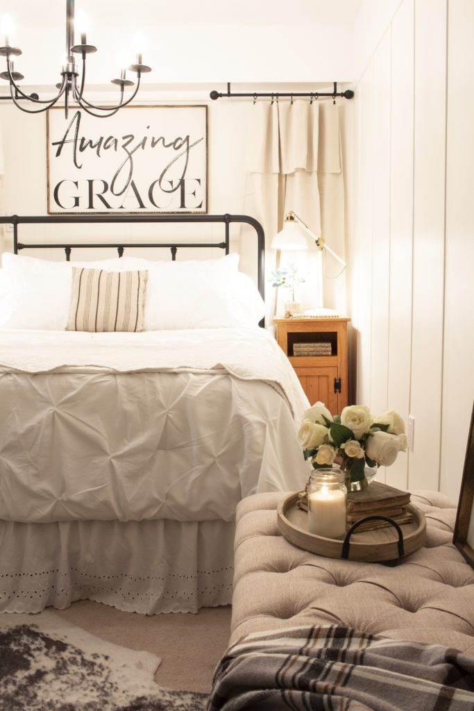 Farmhouse Style Guest Bedroom Makeover Reveal (Wk 6 of 6)