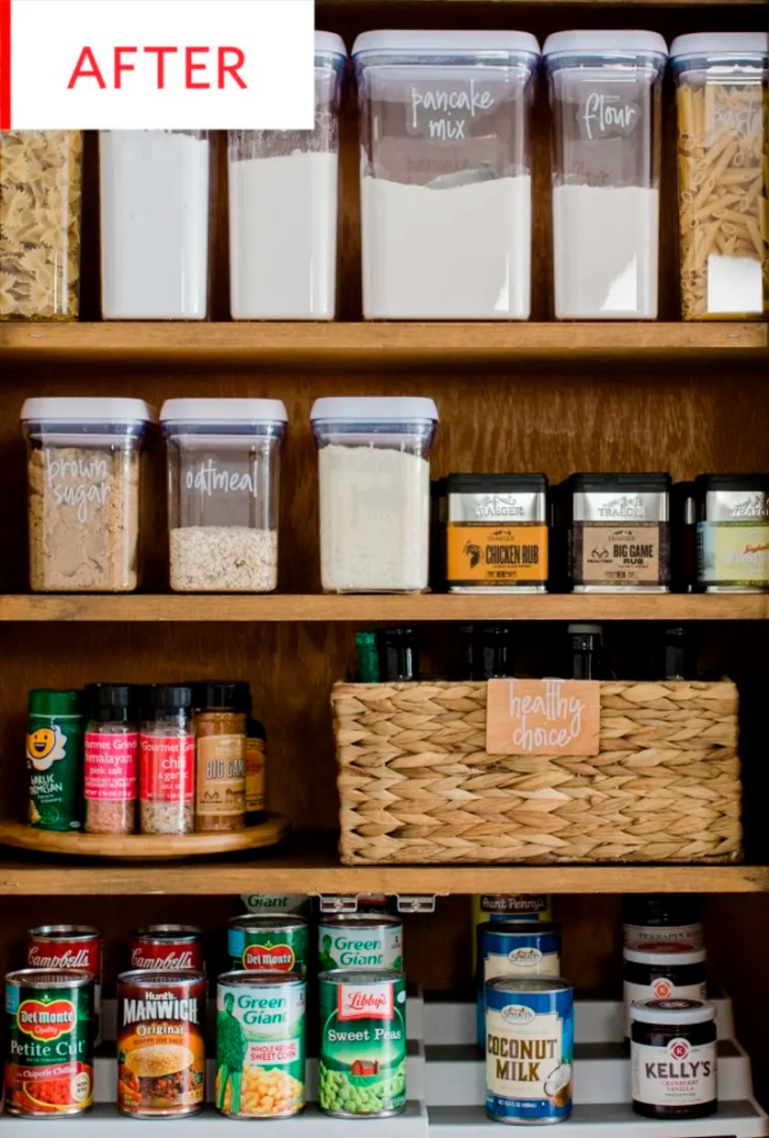 Before and After: A Cluttered Pantry Gets a Streamlined Redo