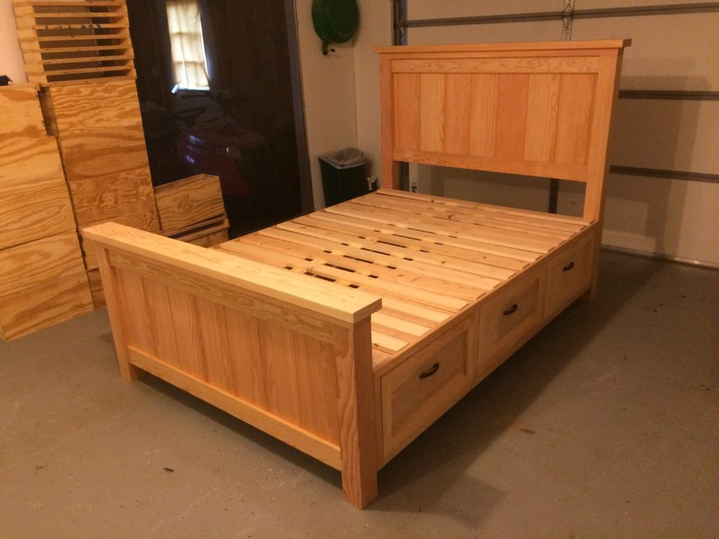 Farmhouse Storage Bed with Drawers - Twin and Full