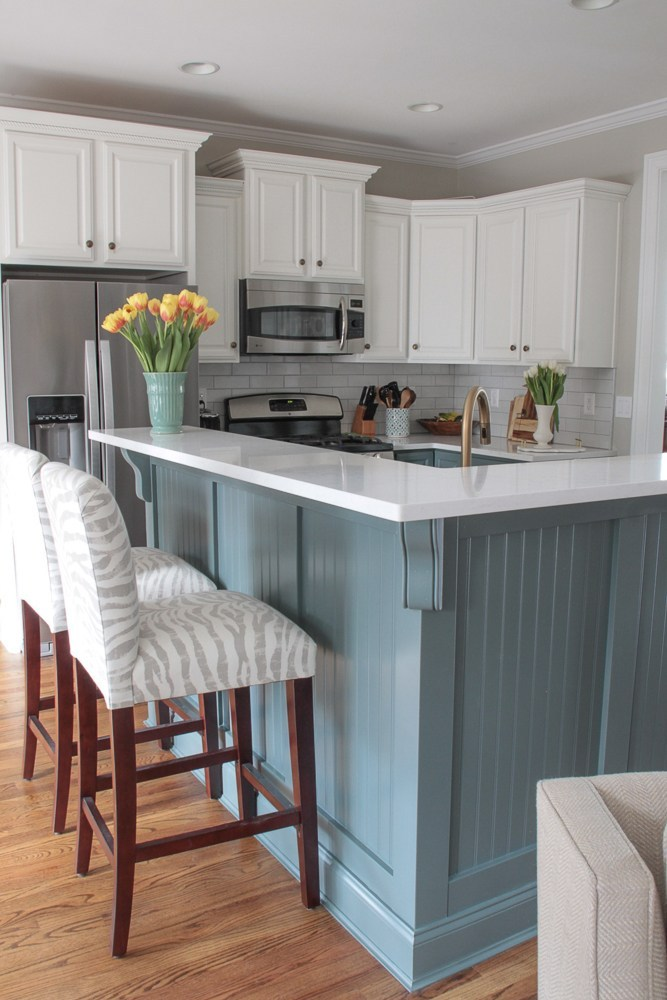 Blue and White Kitchen Renovation Reveal!